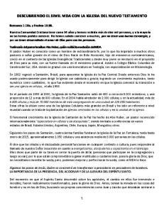 DESCUBRIENDO EL SIMIL MDA CON LA IGLESIA DEL NUEVO TESTAMENTO
