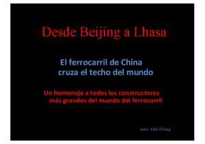 Desde Beijing a Lhasa