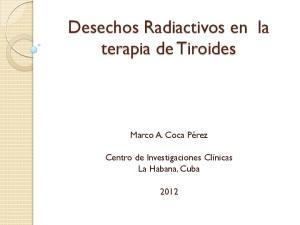 Desechos Radiactivos en la terapia de Tiroides