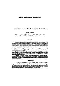 Desertification Monitoring Using Remote Sensing Technology