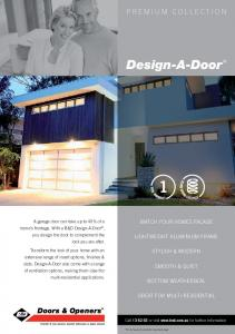 Design-A-Door MATCH YOUR HOMES FACADE LIGHTWEIGHT ALUMINIUM FRAME STYLISH & MODERN SMOOTH & QUIET BOTTOM WEATHERSEAL