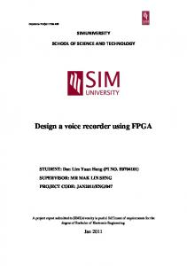 Design a voice recorder using FPGA