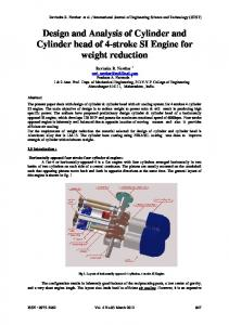 Design and Analysis of Cylinder and Cylinder head of 4-stroke SI Engine for weight reduction