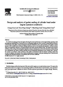 Design and analysis of gasket sealing of cylinder head under engine operation conditions