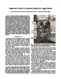 Design and Control of a Recovery System for Legged Robots