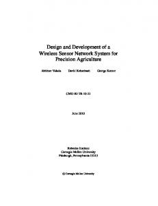 Design and Development of a Wireless Sensor Network System for Precision Agriculture