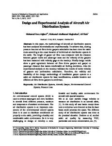 Design and Experimental Analysis of Aircraft Air Distribution System