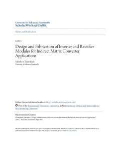Design and Fabrication of Inverter and Rectifier Modules for Indirect Matrix Converter Applications