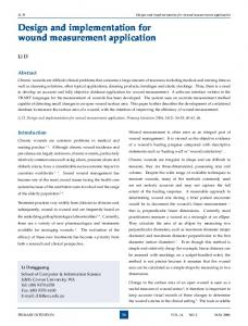 Design and implementation for wound measurement application