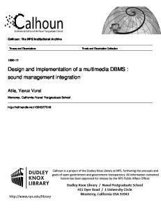 Design and implementation of a multimedia DBMS : sound management integration