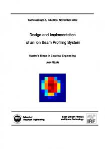 Design and Implementation. of an Ion Beam Profiling System