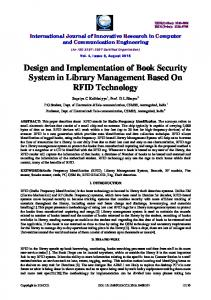 Design and Implementation of Book Security System in Library Management Based On RFID Technology