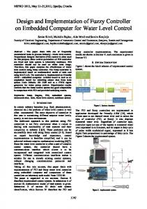 Design and Implementation of Fuzzy Controller on Embedded Computer for Water Level Control