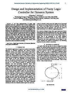 Design and Implementation of Fuzzy Logic Controller for Dynamic System