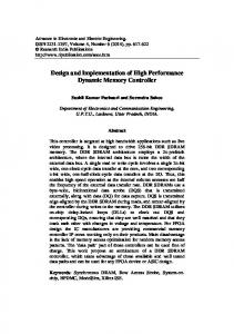 Design and Implementation of High Performance Dynamic Memory Controller