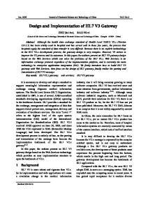 Design and Implementation of HL7 V3 Gateway