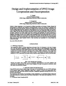 Design and Implementation of JPEG Image Compression and Decompression