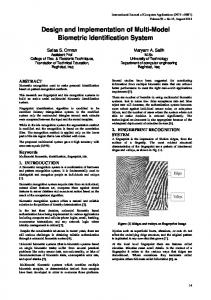 Design and Implementation of Multi-Model Biometric Identification System