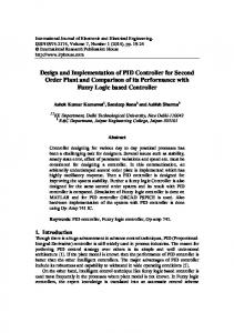 Design and Implementation of PID Controller for Second Order Plant and Comparison of its Performance with Fuzzy Logic based Controller
