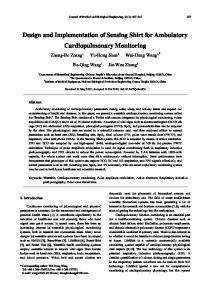 Design and Implementation of Sensing Shirt for Ambulatory Cardiopulmonary Monitoring
