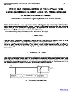 Design and Implementation of Single Phase Fully Controlled Bridge Rectifier Using PIC Microcontroller