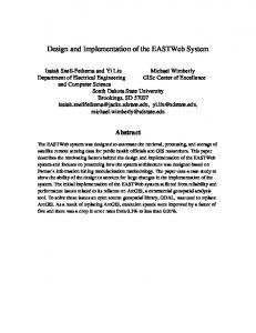 Design and Implementation of the EASTWeb System