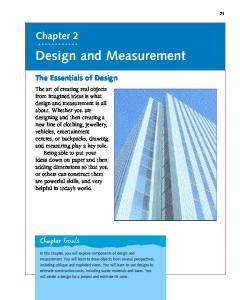 Design and Measurement