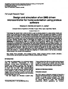 Design and simulation of an SMS driven microcontroller for home automation using proteus software