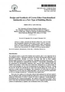 Design and Synthesis of Crown Ether Functionalized Imidazoles as a New Type of Building Blocks