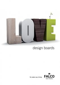 design boards The modern way of living