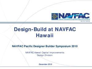 Design-Build at NAVFAC Hawaii
