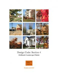 Design Code: Section 4. Fallbrook Landscape Palette