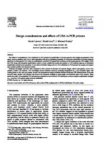 Design considerations and effects of LNA in PCR primers