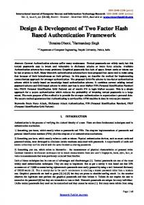 Design & Development of Two Factor Hash Based Authentication Framework