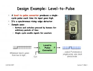 Design Example: Level-to-Pulse