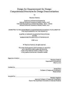 Design-for-Empowerment-for-Design: Computational Structures for Design Democratization