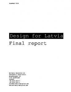Design for Latvia Final report