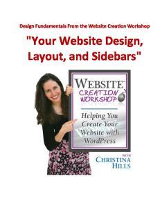 Design Fundamentals From the Website Creation Workshop.