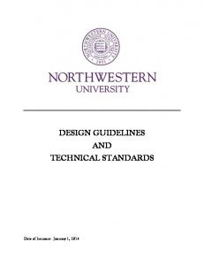 DESIGN GUIDELINES AND TECHNICAL STANDARDS