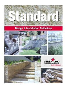 Design & Installation Guidelines