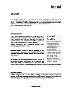 DESIGN INTERIOR DESIGN FASHION DESIGN