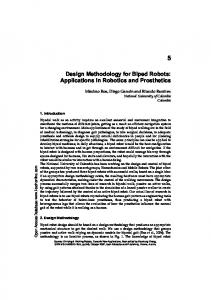 Design Methodology for Biped Robots: Applications in Robotics and Prosthetics