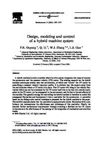 Design, modeling and control of a hybrid machine system