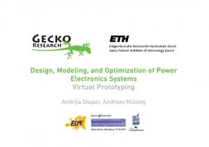 Design, Modeling, and Optimization of Power Electronics Systems Virtual Prototyping