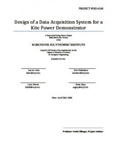 Design of a Data Acquisition System for a Kite Power Demonstrator