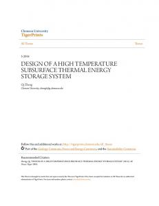 DESIGN OF A HIGH TEMPERATURE SUBSURFACE THERMAL ENERGY STORAGE SYSTEM