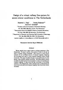 Design of a robust railway line system for severe winter conditions in The Netherlands