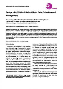 Design of ADCS for Efficient Meter Data Collection and Management