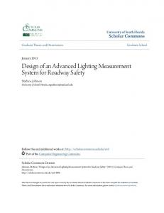 Design of an Advanced Lighting Measurement System for Roadway Safety