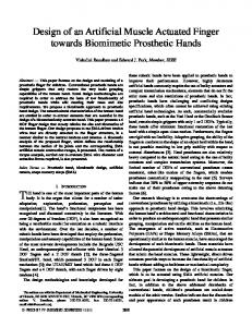 Design of an Artificial Muscle Actuated Finger towards Biomimetic Prosthetic Hands